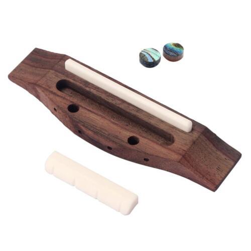 Ersatzteile Ukulele Bridge Set mit Sattelknochen für Gitarre Zubehör