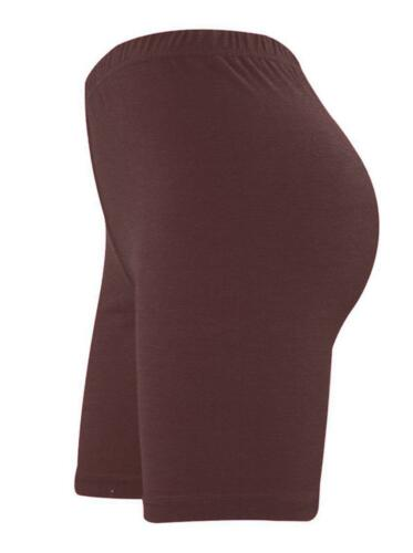 LADIES CYCLING COTTON STRETCHY LYCRA SHORT ACTIVE CASUAL SPORTS WOMEN/'S LEGGINGS