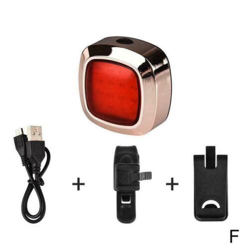 Intelligent Induction Bicycle Taillights Brake Light USB New Charging Water U8B4