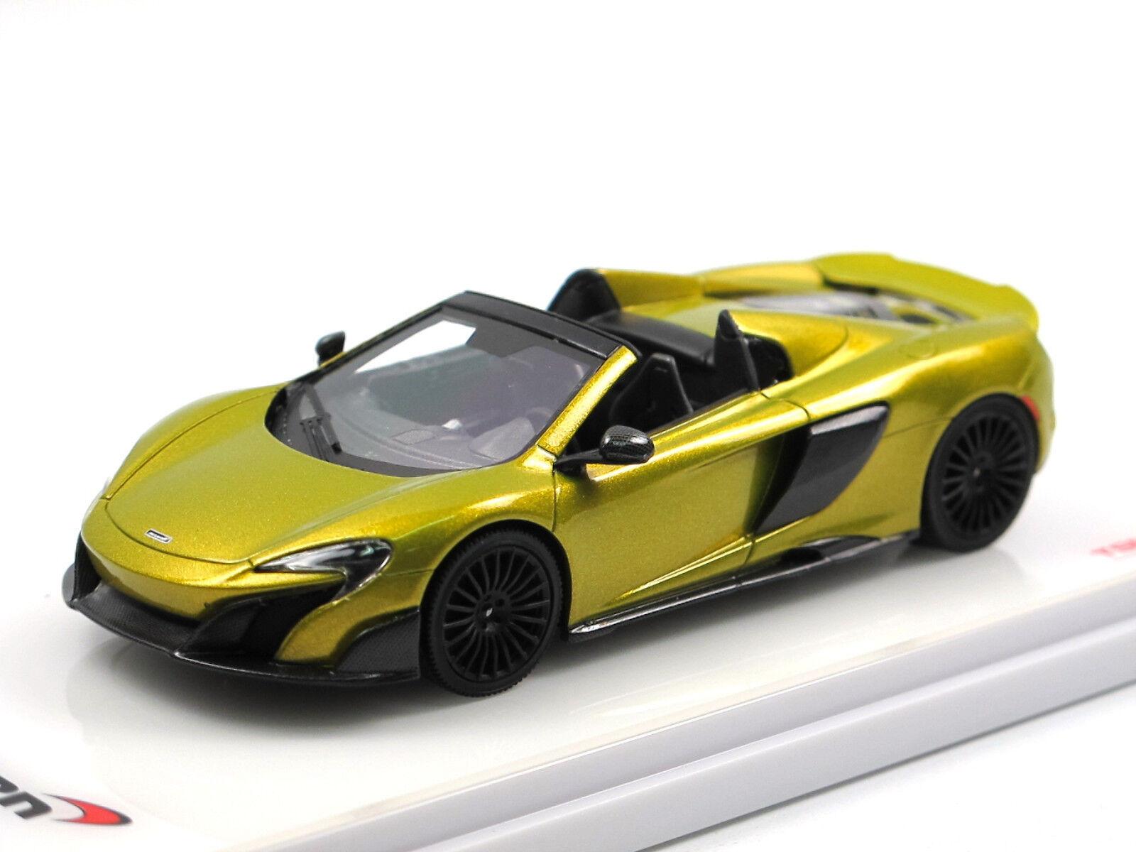 TSM Model TSM430202 - 2015 McLaren 675LT Spider Solis Yellow - 1 43 Resin