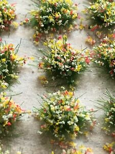 Self-Adhesive Static Grass Tufts Wild flowers 5mm high