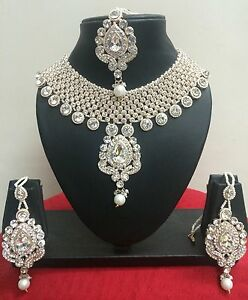 Indian Bollywood Rose Gold Plated Fashion Bridal Costume Jewellery