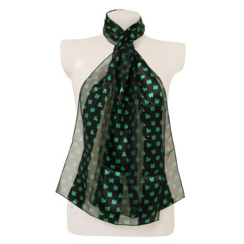 Irish grandi foglie shamrocks Sciarpa St Patrick/'s Day Crema sciarpe eleganti