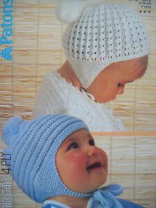 Details about Baby Boys Girls HAT pom pom HELMET KNITTING PATTERN 4 ply 0 -  10 yrs 3072