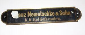 Antico Insegna Klavierbauer Piano Klavierfranz Nemetschke Figlio K.K.Purveyor