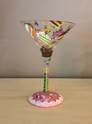 Magnificent Lolita Birthday Cake Martini Glass Hand Painted Recipe On Bottom Funny Birthday Cards Online Benoljebrpdamsfinfo