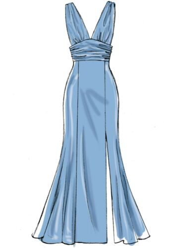 McCalls Schnittmuster M7896 elegant figurbetont schulterfrei Kleid