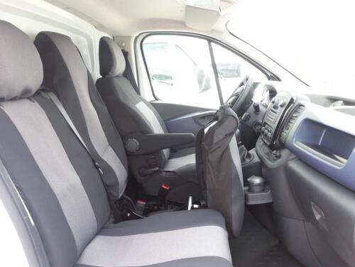 Maßgefertigte Autositzbezüge  Fahrersitz und 2er Bank für Opel Vivaro 2014+