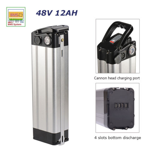 48V 12Ah Electric Bicycle Battery Pack 350W 576WH E-bike Lithium Charger Cradle