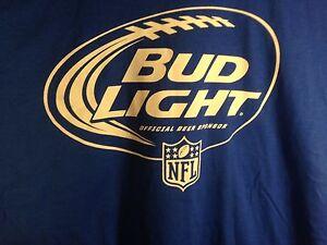 New Bud Light Beer Shirt Size Men S Xl Blue Nfl Colts