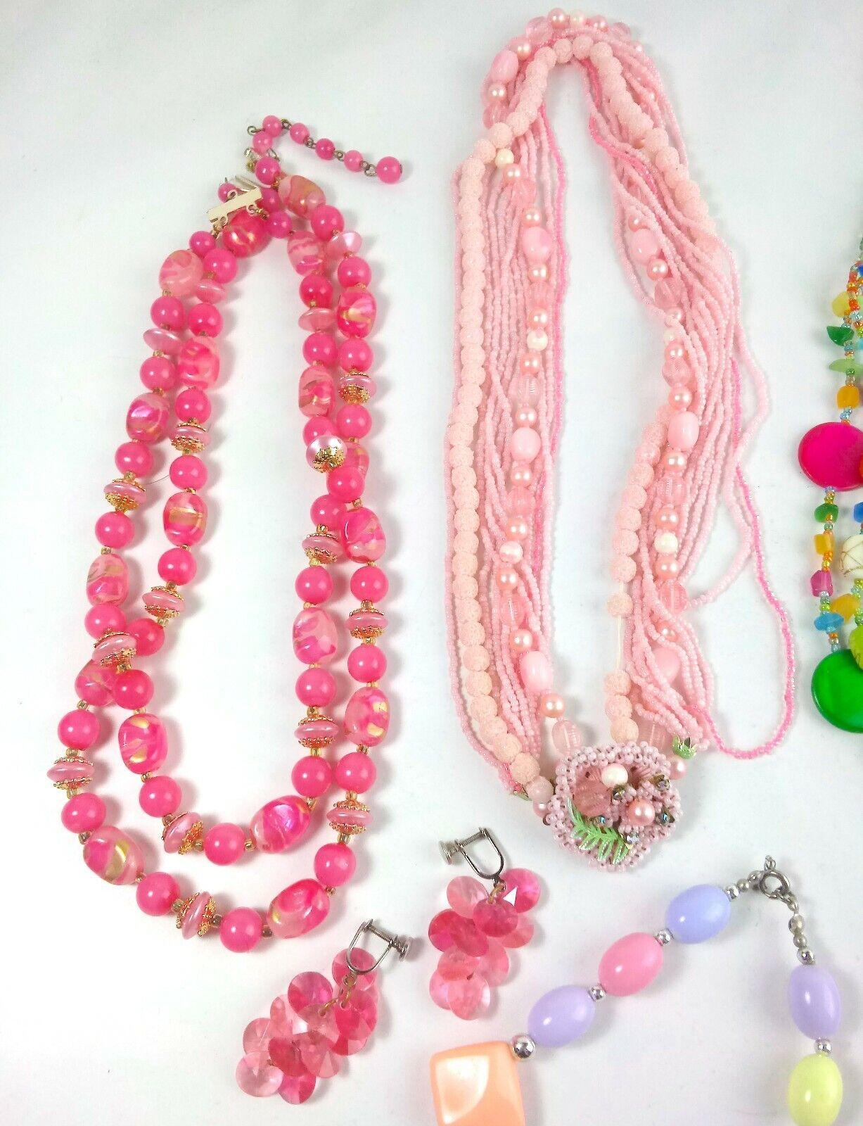 Costume Jewelry Lot Necklaces Bracelet Earrings - image 2