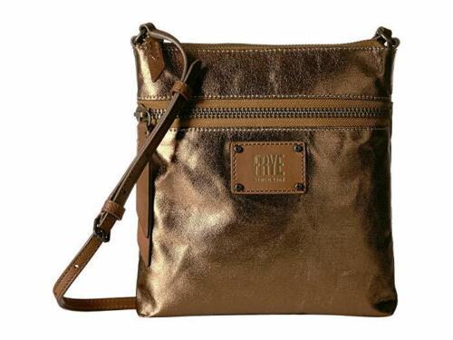 Frye Ivy Crossbody nwts Bronze metallic htf bag front logo authentic