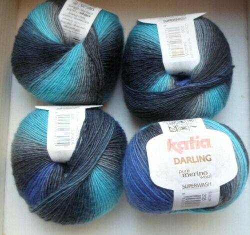 200 talla wollpaket Darling de Katia fb.206 para 1 triángulo pañuelo suficiente