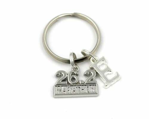 Personalised Marathon Keyring Keychain Any Initial Running Runner Race Gift bag