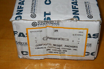 CONFAST 3//8 x 3 Stainless Steel Wedge Anchor 50 per Box