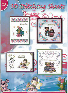 Ann/'s Paper Art No.20 3D Embroidery Stitching Decoupage Sheets Paperback Booklet