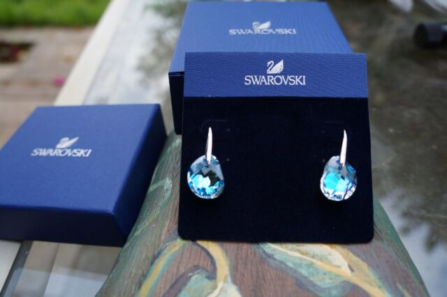 Swarovski Crystal Galet Light Azore Pierced Earrings 949740 Nib 100 Authentic