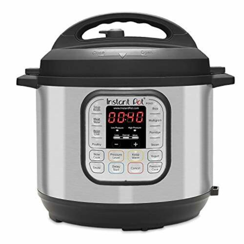 Instant Pot DUO60 6 Qt 7-in-1 Multi-Use Programmable Pressure Cooker Slow Cooke