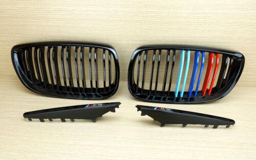 //////M-color Shiny Black For BMW E92 E93 E90 M3 Front Grille /& Side Fender