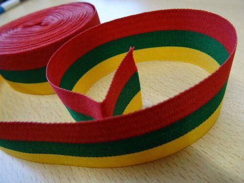 Lituania Lituanie-bandera cinta tricolor-amarillo verde y cinta roja 1 metros