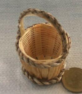 1:12 Échelle 3 Bambou Paniers 3cm Diamètre Tumdee Poupées Maison Food Accessory