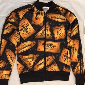 Details about Adidas Originals ObyO Jeremy Scott PLAQUE JACKET TRACK TOP *KINGSMAN ORANGE GOLD