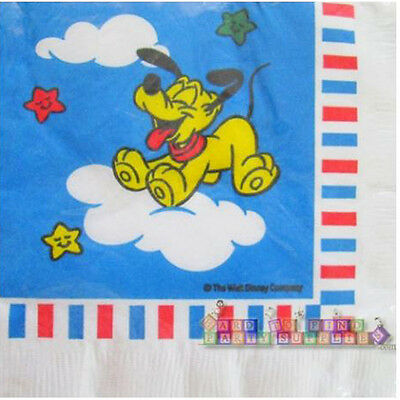 DISNEY BABY PLUTO SMALL NAPKINS 16 ~1st First Birthday Party Supplies Shower