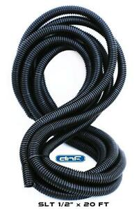 20-Feet-1-2-034-Split-Wire-Loom-Conduit-Polyethylene-Tubing-Car-Audio-Installation