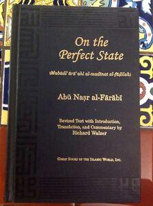 ON-THE-PERFECT-STATE-Abu-Nasr-al-Farabi-Revised-1998-Richard-Walzer-Free-Ship