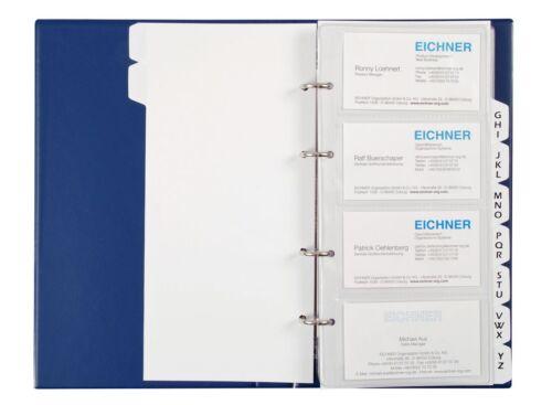 EICHNER Registersatz A-Z für Visitenkartenalbum A5 Visitenkartenalben
