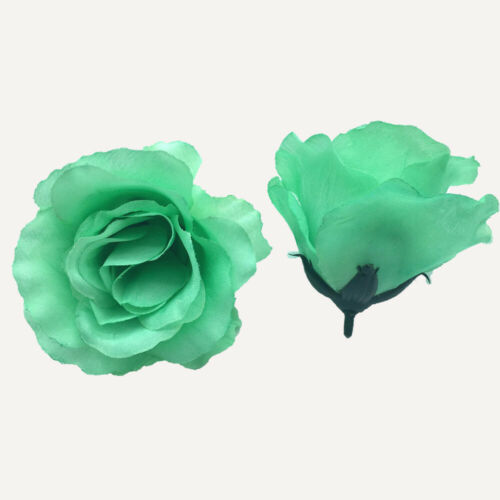 100PCS Big Roses Artificial Silk Fake Rose Flower Heads Bulk Wedding Party Decor