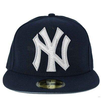 edc295c80d51 New Era MLB 59Fifty Mighty Stitch NY new York Yankees Fitted Baseball Cap |  eBay