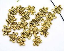50 BEAUTIFUL HIGH QUALITY GOLD METAL BEE BEADS 14MM X 12MM - FAST FREE P&P