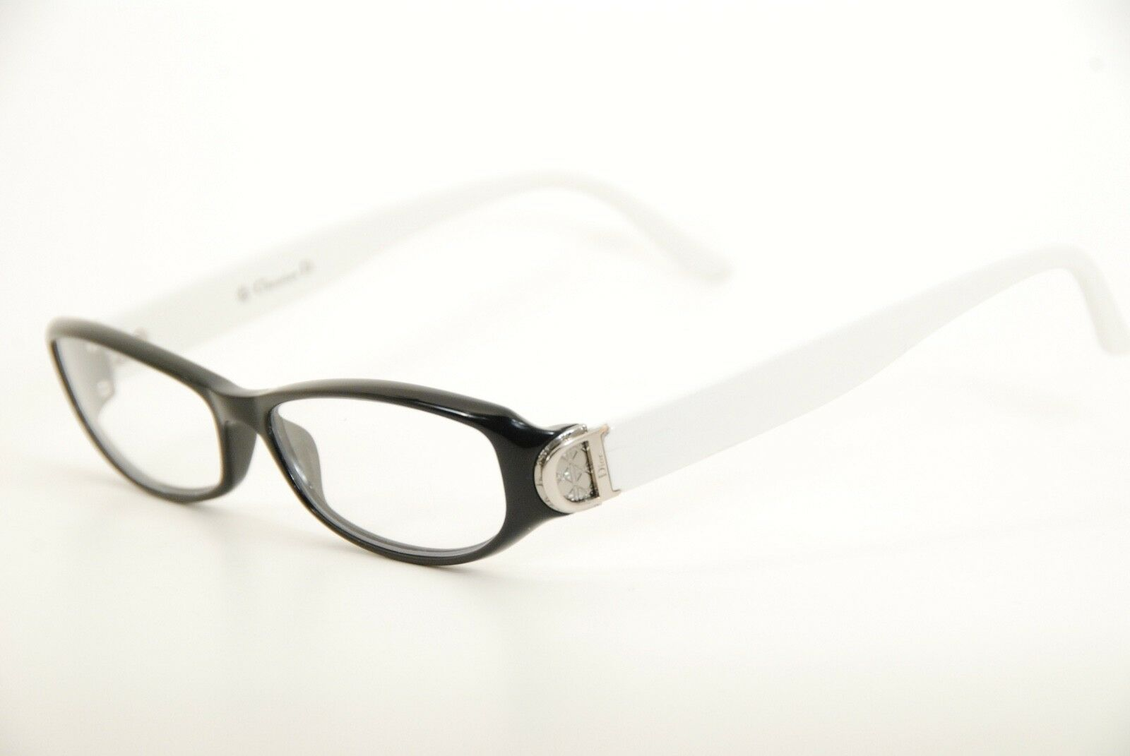 New Authentic Dior CD 3171 OVF Black/White 52mm Frames Eyeglasses Italy RX