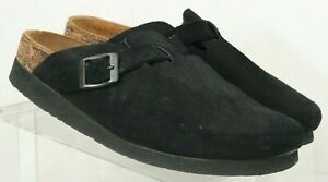 Naot-Black-Suede-Buckle-Comfort-Casual-Flat-Slip-On-Mules-Women-039-s-US-6