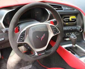 Details about C7 Corvette Z06 Grand Sport ZR1 Steering Wheel Black Suede  Red Stitching AUTO
