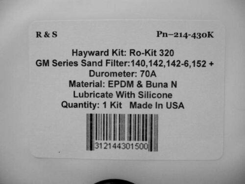 Hayward GM Series Sand Filter,140,142,142-6,152,152HV O-Ring Kit Ro-Kit 320//R/&S