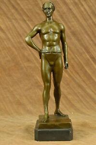 Hot-Cast-Detailed-Roman-Emperor-God-by-Kesk-Bronze-Sculpture-Statue-Lost-Wax-Art