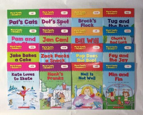 Lot 16 Word Family Readers Childrens Books BONUS Full Size Teaching Guide