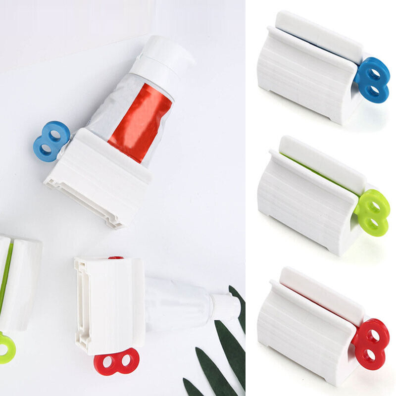 Toothpaste Tube Squeezer Bathroom Easy Dispenser Rolling Holder Stand-RO