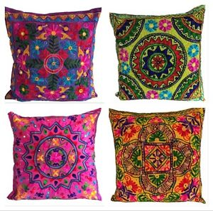 large-Indian-Suzani-Ethnic-Cushion-Cover-Covers-Embroidery-Mirror-60x60-cms