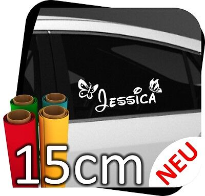 15cm Wunschname Aufkleber Kinder Sticker Schmetterling Autoaufkleber Auto N.20