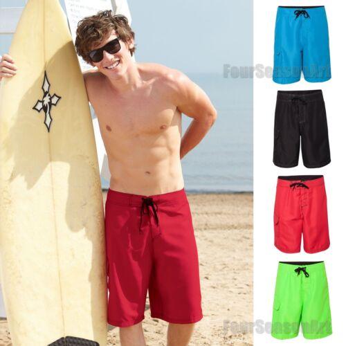 Burnside Mens Solid Board Shorts Sweam Trunks Black Neon Blue Green Red B9301