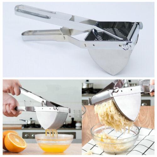 Edelstahl-Kartoffel-Ricer-Stampfer-Frucht-Juicer-Handpresse-Gemüsequetscher