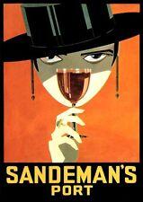 SANDEMAN Port vino manifesto 1925 di Loxton Knight fac simili 27 su carta cartoni