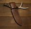 knife-blade-sheath-cover-scabbard-case-bag-cow-leather-customize-brown-Z997 thumbnail 2