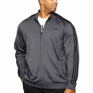 Details about NWT ADIDAS Big & Tall Mens ZIP UP Track Jacket CHARCOAL GRAY