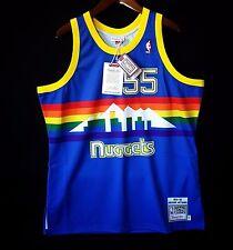 100% Authentic Mitchell & Ness Dikembe Mutombo Nuggets NBA Jersey Size 52 2XL