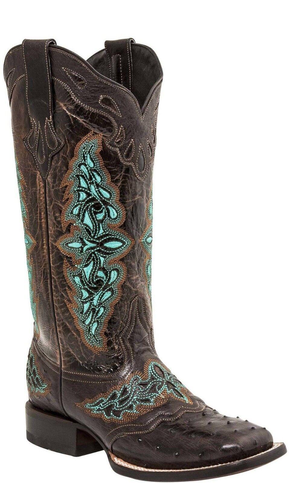 Lucchese amberlyn M4883.WF Mujer botas botas botas Marrón Completo Pluma Avestruz  Seleccione de las marcas más nuevas como