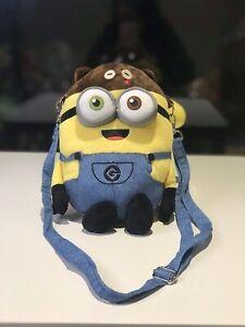 Brand-New-Minions-Bob-Minion-Teddy-Bear-Shoulder-Bag-Universal-Super-Cute